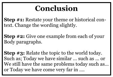 How to write a good conclusion in my essay